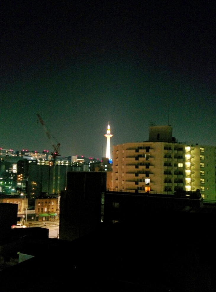 Kyoto Tower from K's House Rooftop